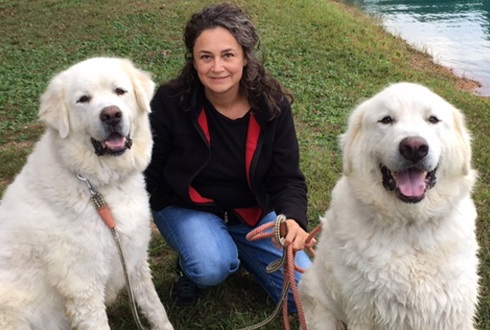 Dr. Sergerie and her two dogs